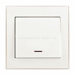 RAIN Выключатель с подсветкой жемчужно-белый перламутр