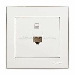 RAIN Розетка компьютерная жемчужно-белый перламутр