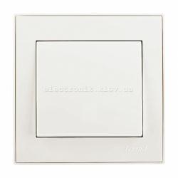 RAIN Выключатель одноклавишный жемчужно-белый перламутр