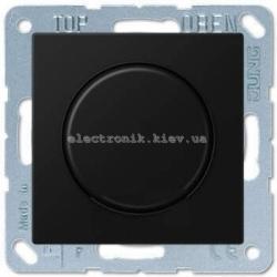 Светорегулятор поворотно-нажимной универсальный Eco Profi Черный мат