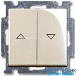Выключатель жалюзи с фиксацией 2-клав с накладкой ABB Basic 55 бежевый