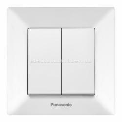 Panasonic ARKEDIA SLIM белый Выключатель двойной
