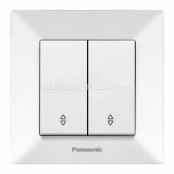 Panasonic ARKEDIA SLIM белый  Выключатель двойной проходной