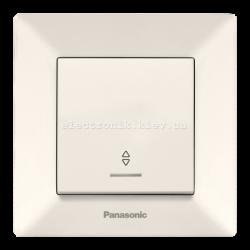 Panasonic ARKEDIA SLIM крем Выключатель проходной с подсветкой