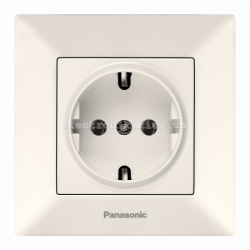Panasonic ARKEDIA SLIM крем Розетка с заземлением