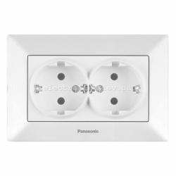 Panasonic ARKEDIA SLIM белый Розетка двойная с заземлением