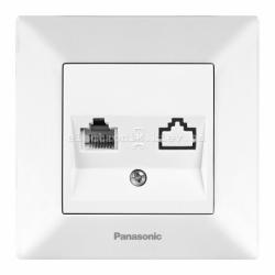 Panasonic ARKEDIA SLIM белый Розетка компьютерная (Cat 5e)