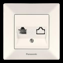 Panasonic ARKEDIA SLIM крем Розетка компьютерная (Cat 5e)