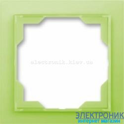 Рамка 1-пост ABB Neo белый/зеленый