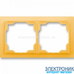 Рамка 2-поста ABB Neo белый/оранжевый