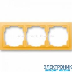 Рамка 3-поста ABB Neo белый/оранжевый