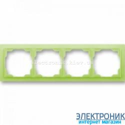 Рамка 4-поста ABB Neo белый/зеленый
