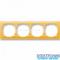 Рамка 4-поста ABB Neo белый/оранжевый