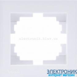 Рамка одинарная с боковой вставкой, белый Lezard RAIN