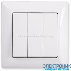 GUNSAN VISAGE белый Выключатель трехклавишный