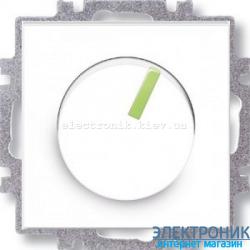 Cветорегулятор поворотный 6-600Вт светодиодный ABB Neo белый/зеленый