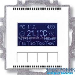 Термостат универсальный, программируемый ABB Neo белый/зеленый