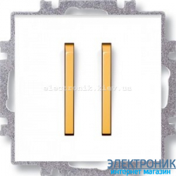 Выключатель 2-клав., безвинтовые зажимы ABB Neo белый/оранжевый