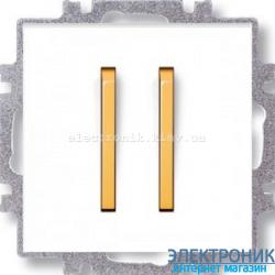 Переключатель 2-клав., проходной безвинтовые зажимы ABB Neo белый/оранжевый