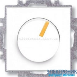 Cветорегулятор поворотный 6-600Вт светодиодный ABB Neo белый/оранжевый