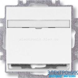 Розетка универсальная телефон/компьютер двойная ABB Neo белый/зеленый