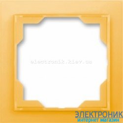 Рамка 1-пост ABB Neo белый/оранжевый