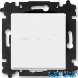 Выключатель/переключатель 1-клав., проходной безвинтовые зажимы ABB Levit белый/белый