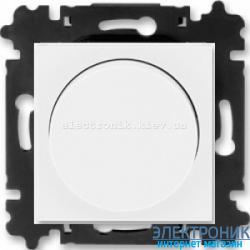 Cветорегулятор поворотный 6-600Вт светодиодный ABB Levit белый/белый