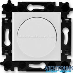 Cветорегулятор поворотный 60-600Вт  ABB Levit серый/белый