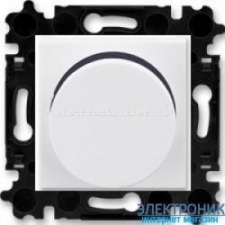 Cветорегулятор поворотный 60-600Вт  ABB Levit белый/дымчатый