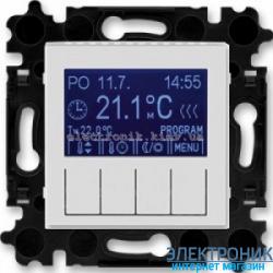 Термостат универсальный, программируемый ABB Levit серый/белый