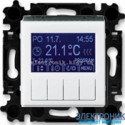 Термостат универсальный, программируемый ABB Levit белый/дымчатый