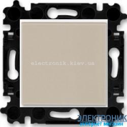 Выключатель/переключатель 1-клав., проходной безвинтовые зажимы ABB Levit макиато/белый
