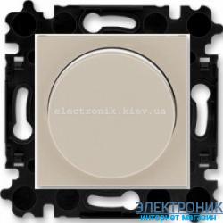 Cветорегулятор 2-400Вт светодиодный LED-Dimmer ABB Levit макиато/белый