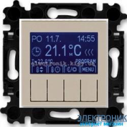Термостат универсальный, программируемый ABB Levit макиато/белый