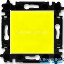 Выключатель/переключатель 1-клав., проходной безвинтовые зажимы ABB Levit желтый/дымчатый