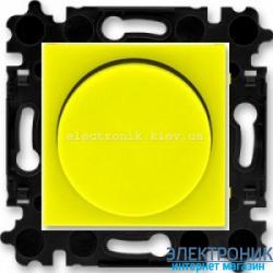Cветорегулятор поворотный 60-600Вт светодиодный ABB Levit желтый/дымчатый