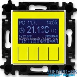 Термостат универсальный, программируемый ABB Levit желтый/дымчатый