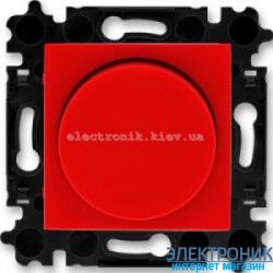 Cветорегулятор 2-400Вт светодиодный LED-Dimmer ABB Levit красный/дымчатый