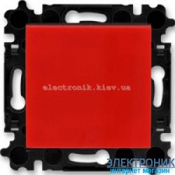 Переключатель 1-клав., перекрестный  безвинтовые зажимы ABB Levit красный/дымчатый