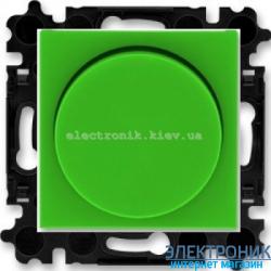 Cветорегулятор 2-400Вт LED-Dimmer ABB Levit зеленый/дымчатый