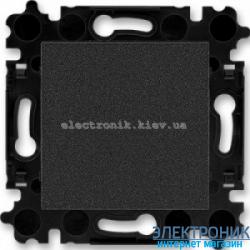 Выключатель/переключатель 1-клав., проходной безвинтовые зажимы ABB Levit оникс/дымчатый
