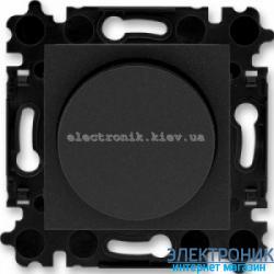 Cветорегулятор поворотный 60-600Вт  ABB Levit оникс/дымчатый