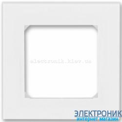 Рамка 1-пост ABB Levit белый/ледяной