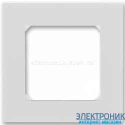 Рамка 1-пост ABB Levit серый/белый