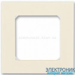 Рамка 1-пост ABB Levit слоновая кость/белый
