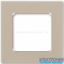 Рамка 1-пост ABB Levit макиато/белый