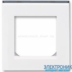 Рамка 1-пост ABB Levit белый/дымчатый