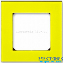 Рамка 1-пост ABB Levit желтый/дымчатый
