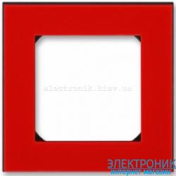 Рамка 1-пост ABB Levit красный/дымчатый